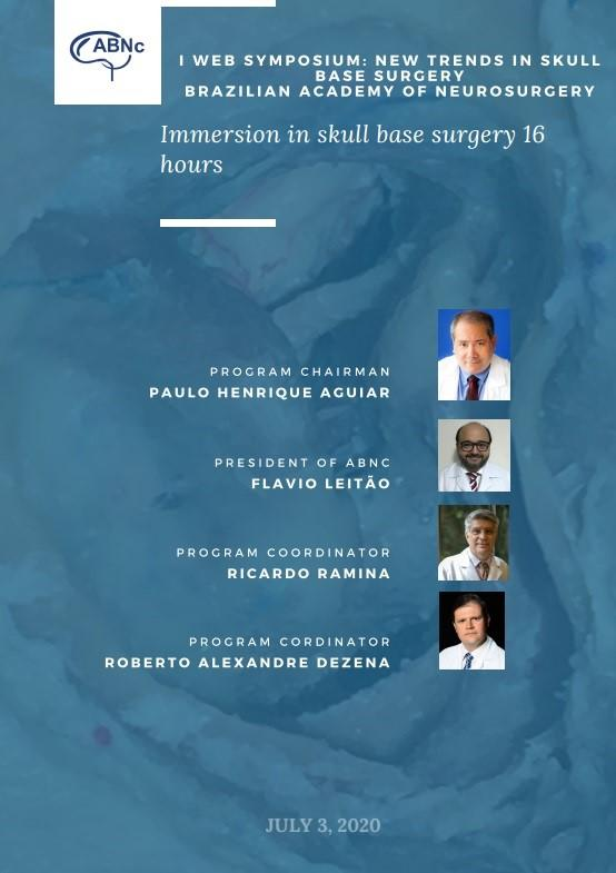 I Web Symposium: New TRENDS IN Skull Base Surgery – Brazilian Academy Neurosurgery